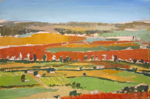 Campos de Castilla I. Oil on wood, 50 x 40 cm, 2011