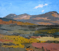 Campos de Castilla II. Oil on wood, 40 x 40 cm, 2011