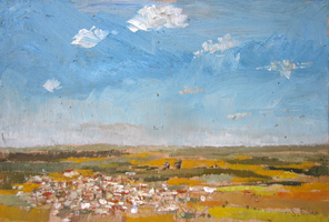 Pico de los Moros. Oil on wood, 60 x 40 cm, 2011