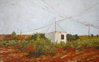 Horizonte. Oil on wood, 40 x 30 cm, 2011
